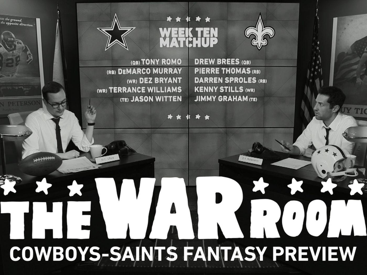 Cowboys Saints Fantasy Preview Brees Graham Bryant Poised