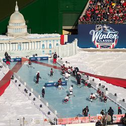 Youth Hockey on the Not Really Reflecting Pool