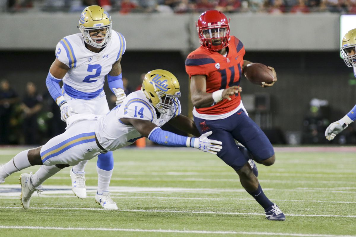 Uofa Football Score >> Arizona Vs Ucla Score Predictions Arizona Desert Swarm