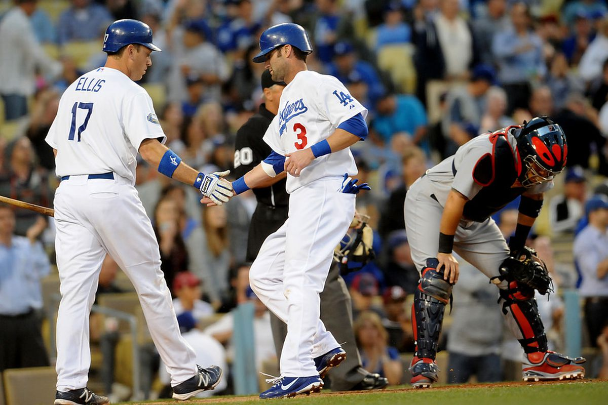 The bottom of the Dodgers' batting order was outstanding on Friday night.
