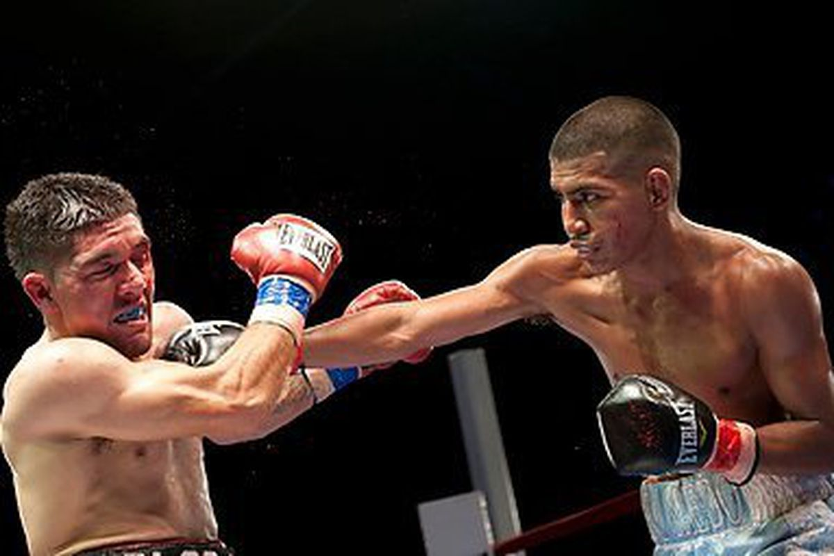 """Alexis """"Beaver"""" Santiago enters his bout on Friday with a pro record of 8-1-1.  All photos courtesy of Jennifer Rosado/Face II Face Events"""