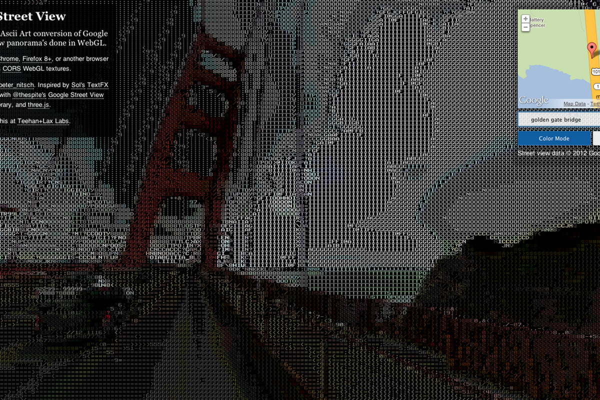 Digital Text As Art Ascii Street View And Painting