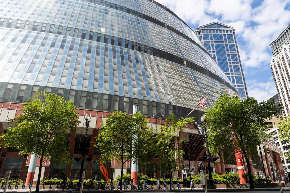 The James R. Thompson Center, located at 100 W. Randolph St. in the Loop, on Monday.