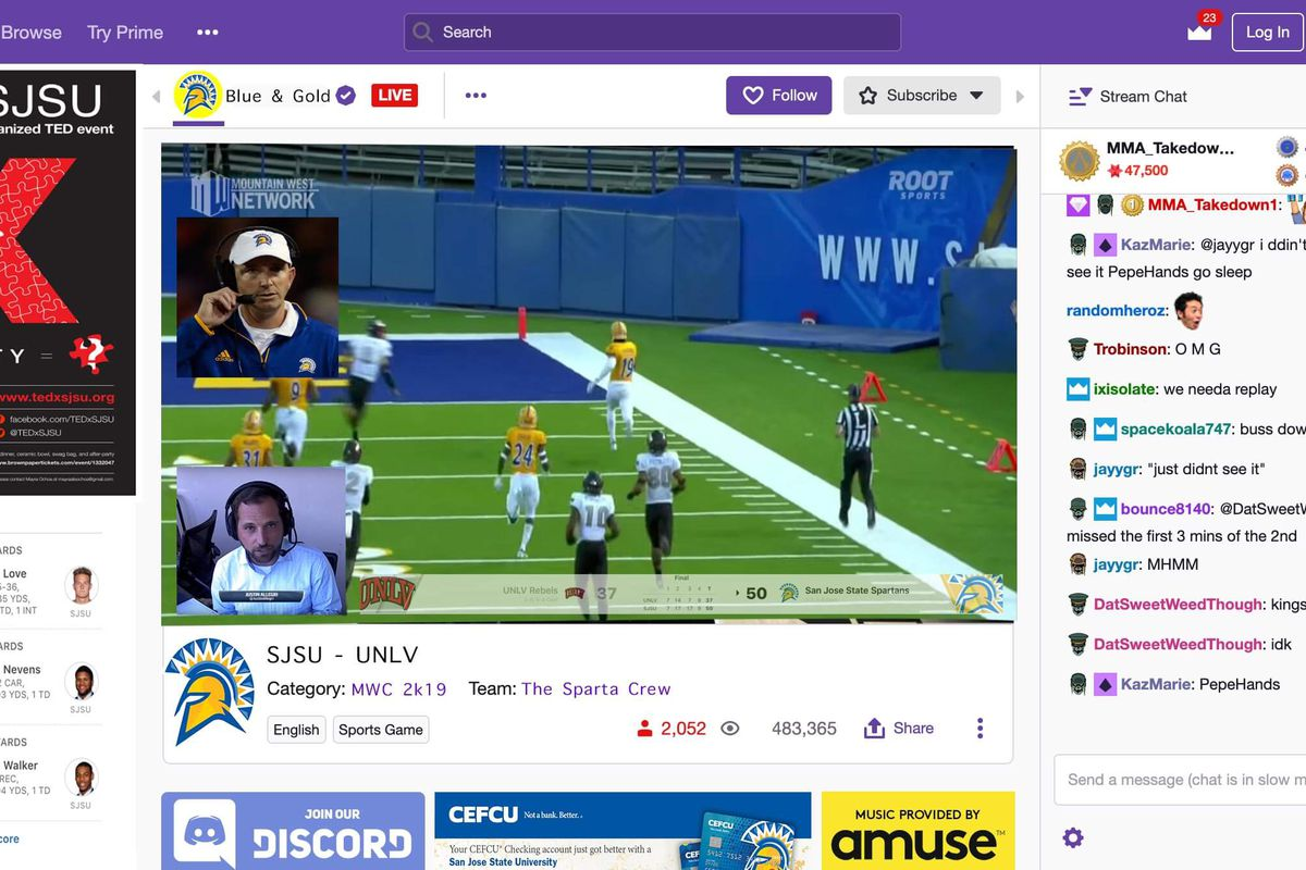 SJSU, Mountain West on Twitch? - Mountain West Connection