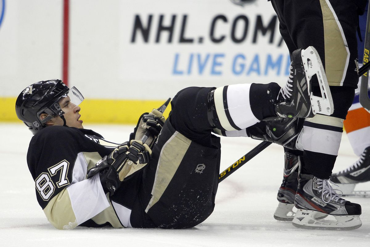Sidney Crosby after finding out he has to play against Erik Karlsson again.