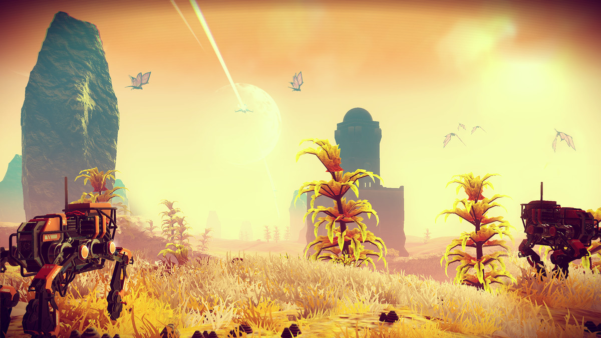No Man's Sky plants and Sentinels
