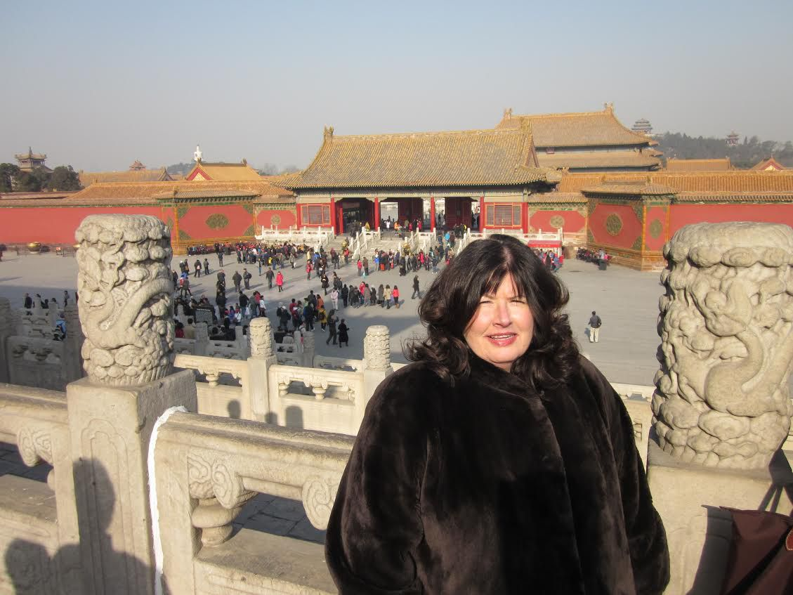 """Mary Frances Fagan enjoyed many trips, including this one to China, in her role as an American Airlines spokesperson. 