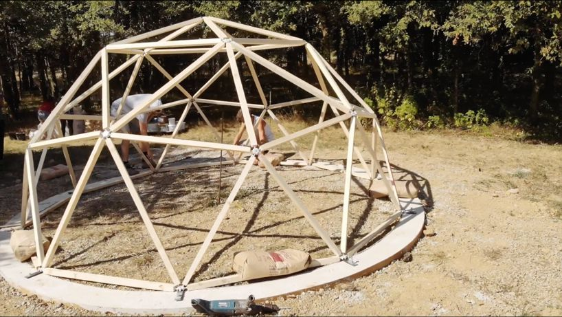Timber frame for dome
