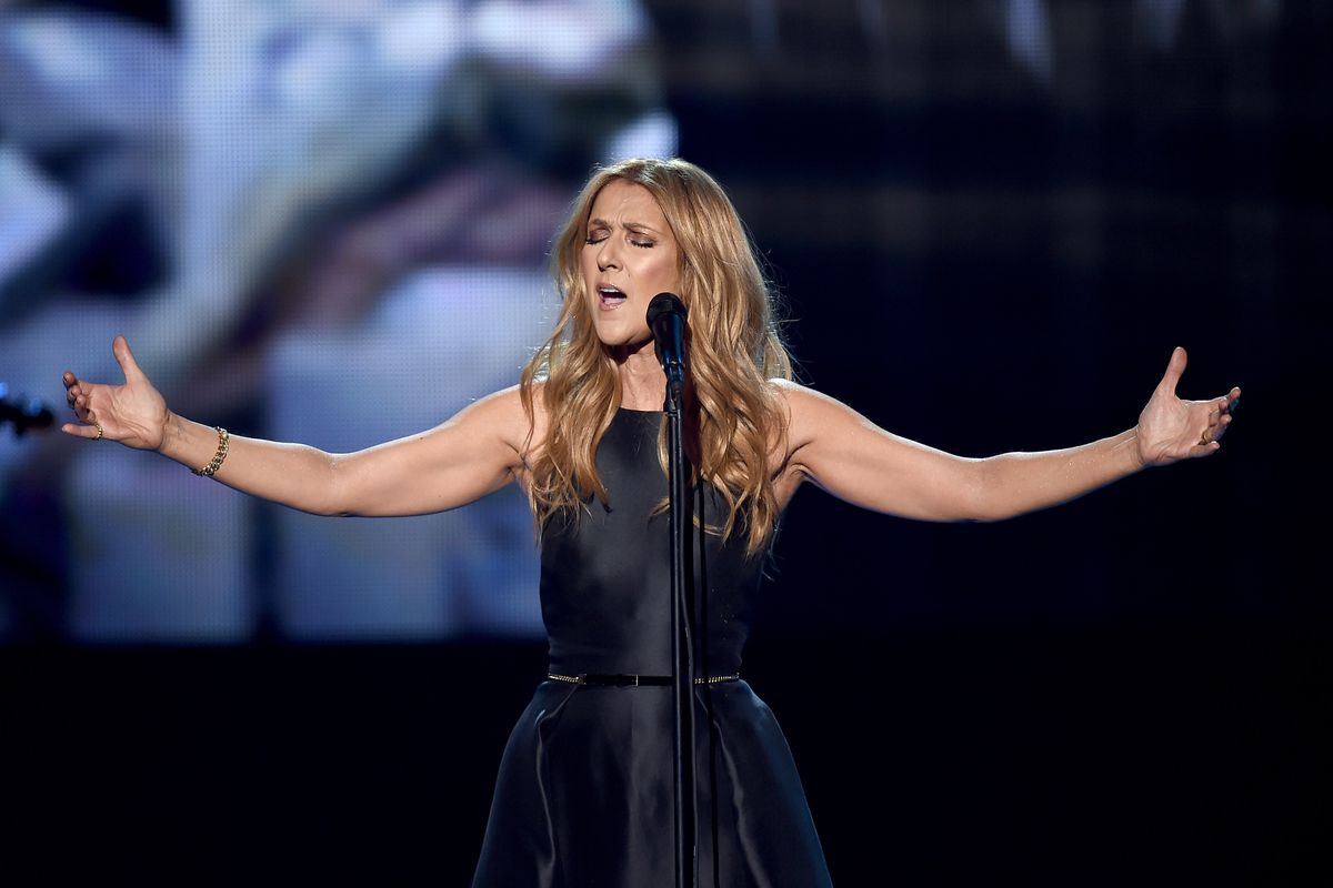 Celine Dion performs onstage during the 2015 American Music Awards at Microsoft Theater on November 22, 2015 in Los Angeles, California.