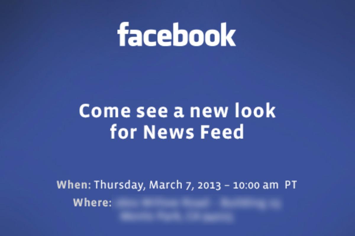 fb new newsfeed invite