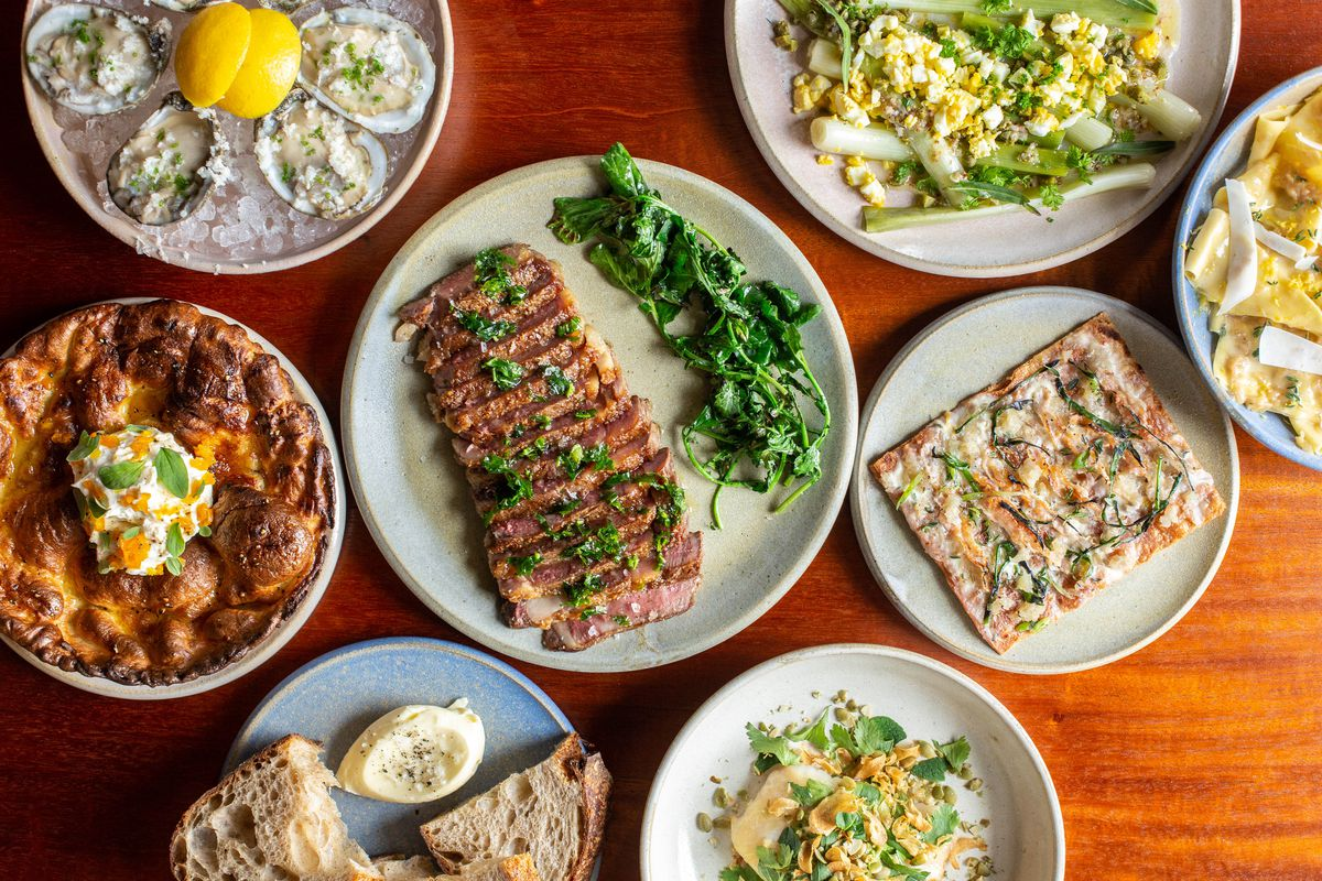 A spread of dishes at Squable