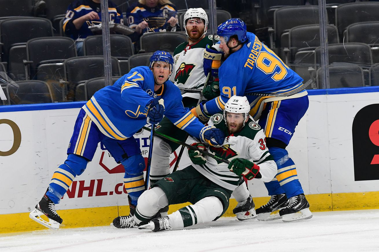 NHL: APR 10 Wild at Blues