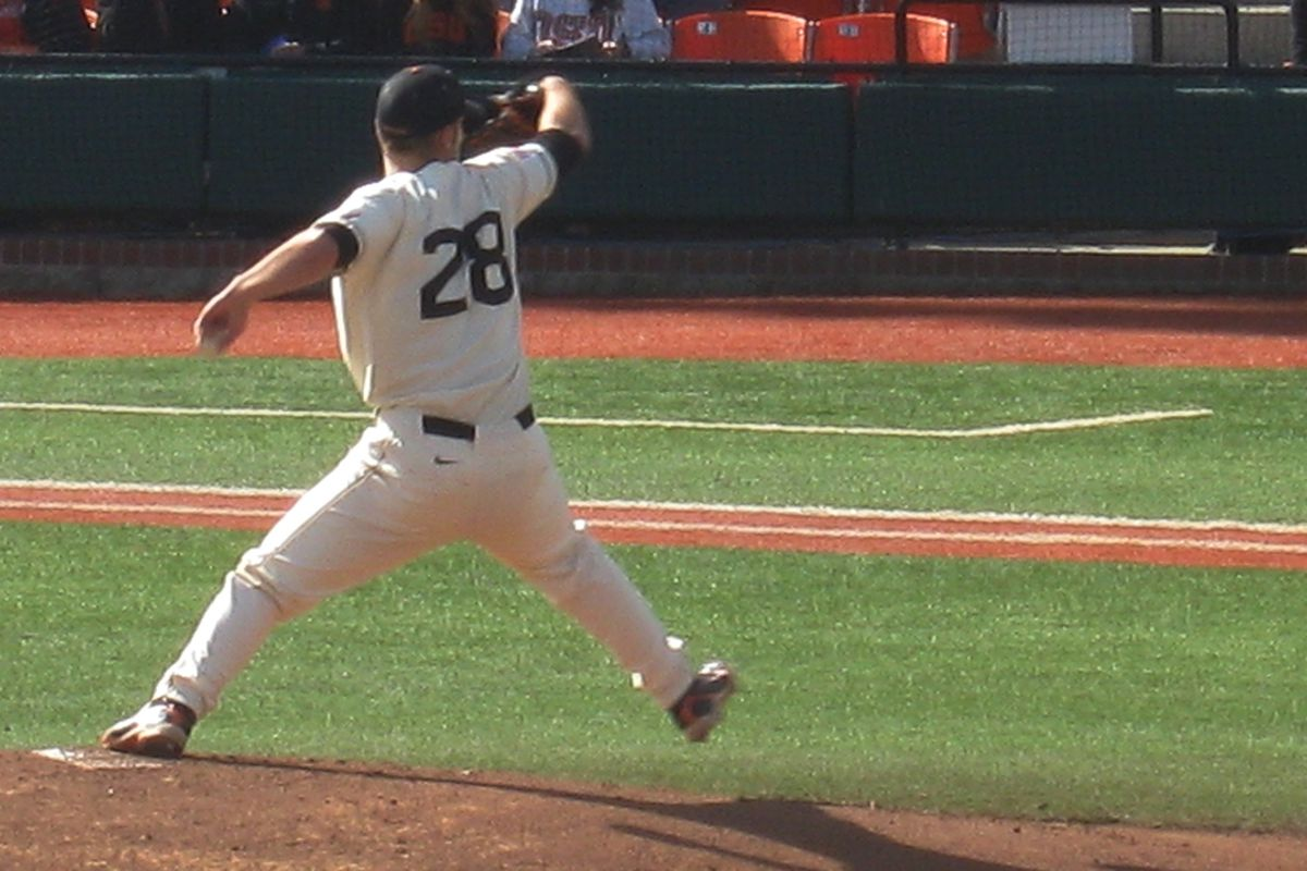 Ben Wetzler will probably be on the mound for the Beavers today.