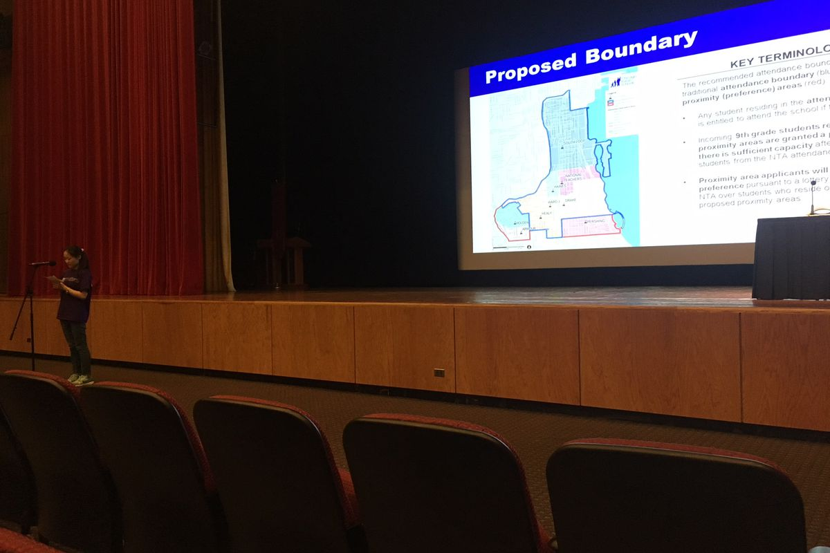 About 30 speakers weighed in on a boundary proposal for a new South Loop high school at a public meeting at IIT.