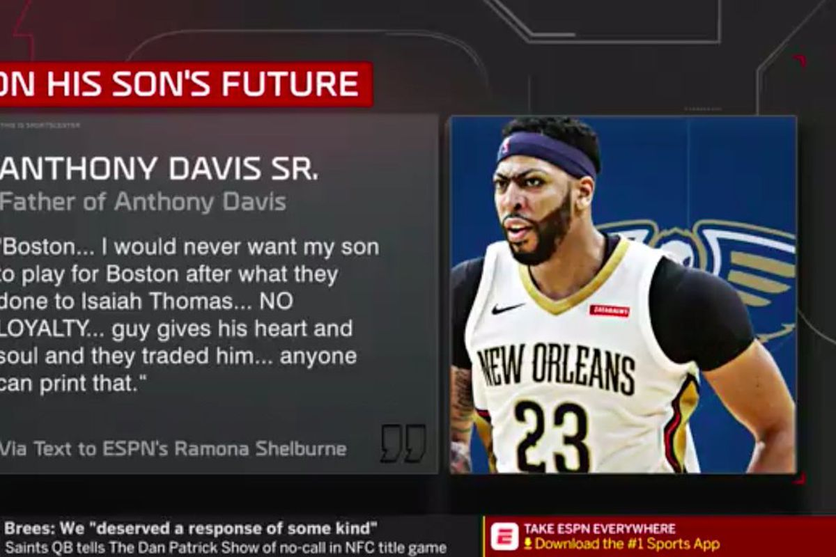 Anthony Davis Sr Says He D Never Want His Son To Play For