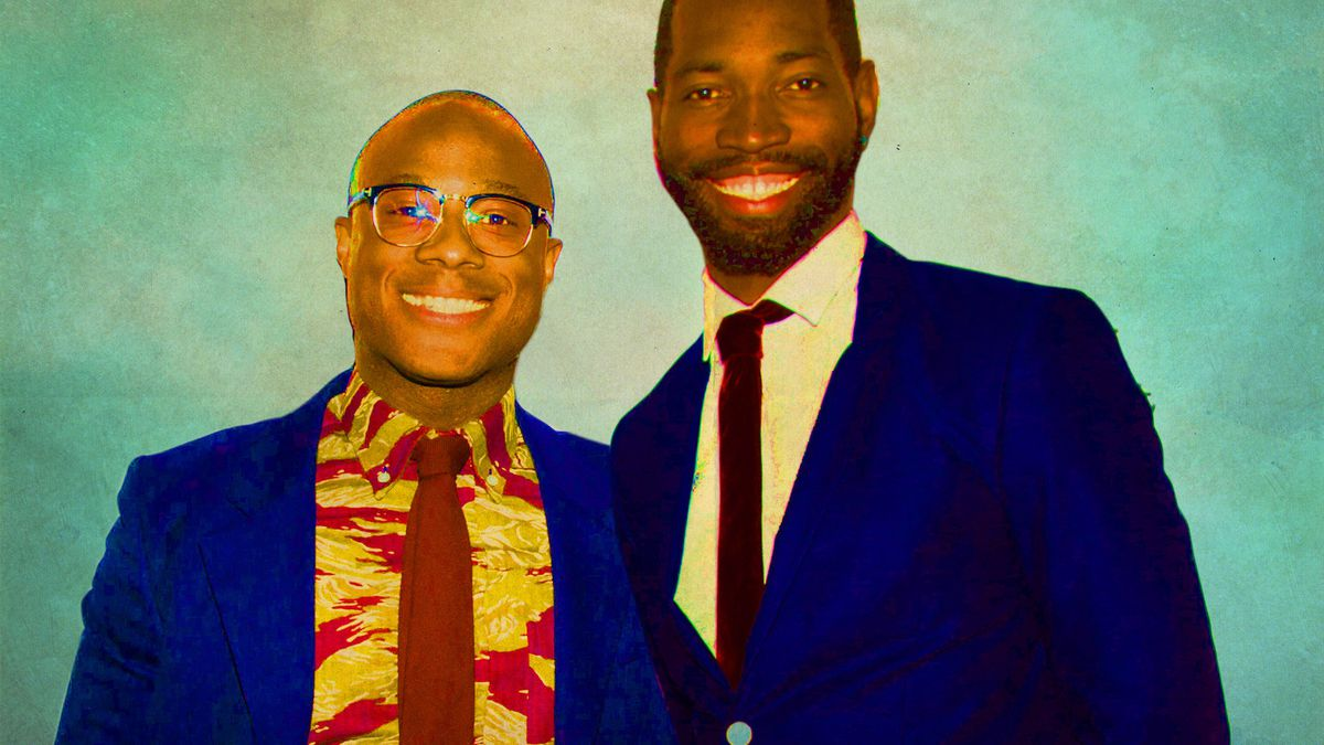 Director Barry Jenkins and playwright Tarell McCraney (Getty Images/Ringer illustration)
