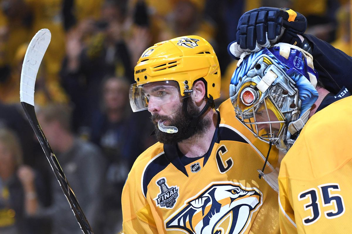 Underwood puts off birthday president for Preds' Fisher
