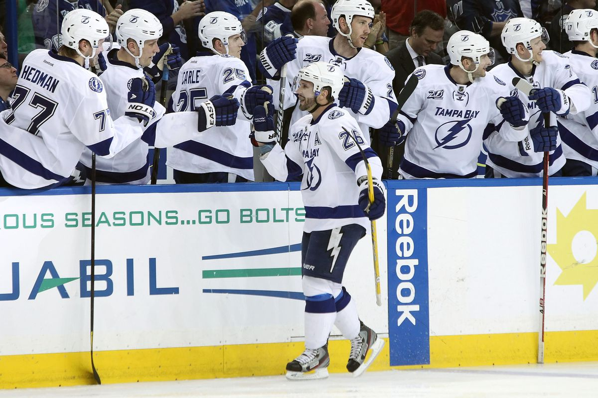 Martin St. Louis has made a career of scoring against the Hurricanes