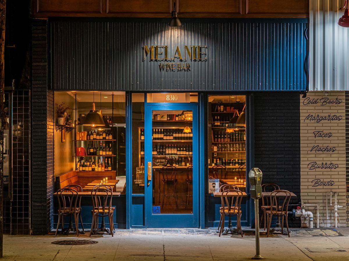 Melanie Wine Bar on West Third Street in Los Angeles.
