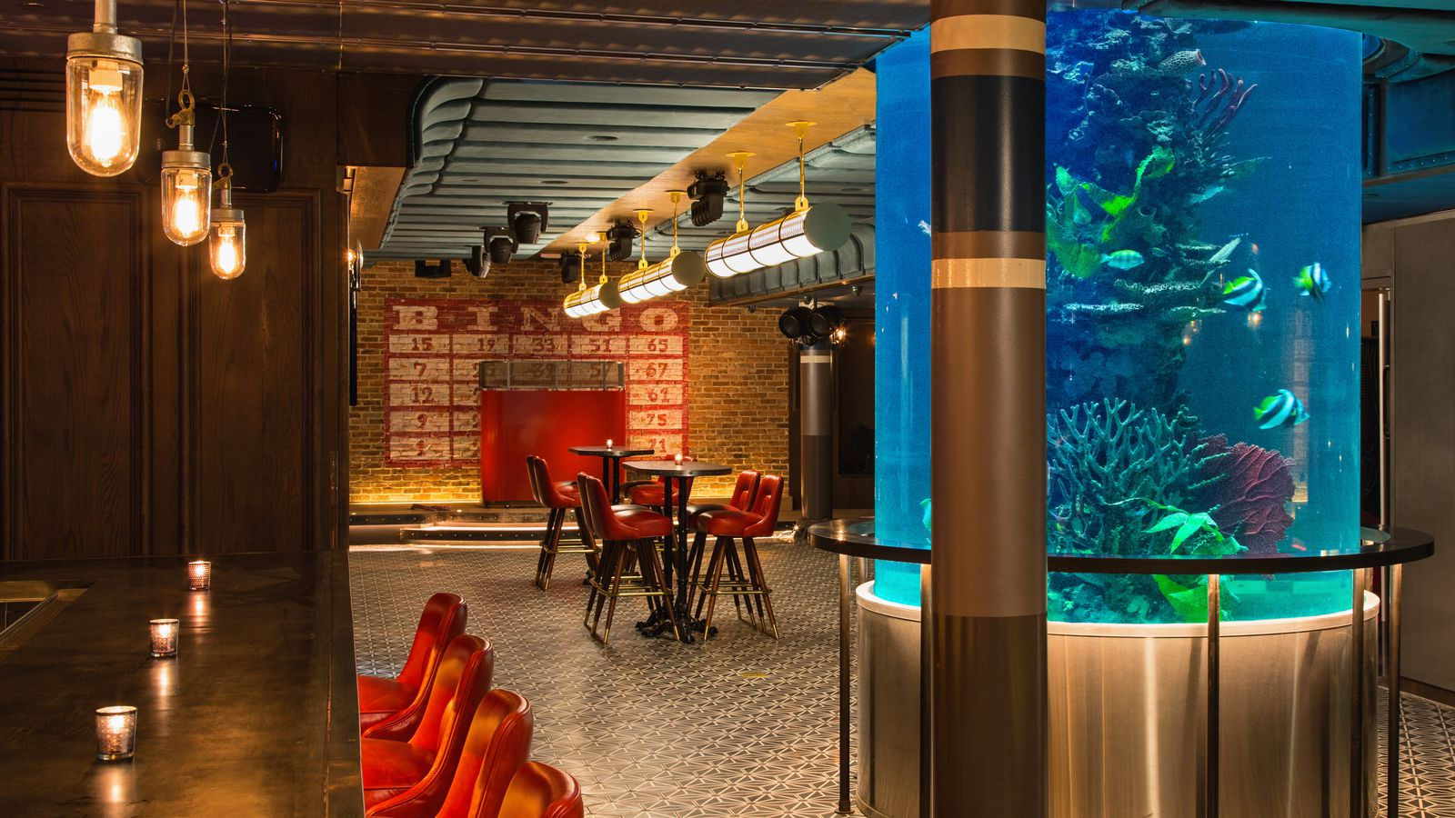 Newest bar from nyc clubstaurant king has a giant fish for Fish bar nyc