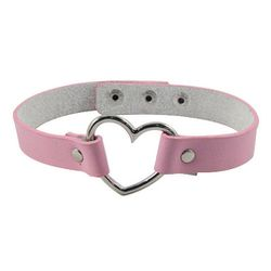 Hardcore leather and metal are juxtaposed by cloying baby pink and a heart for good measure.