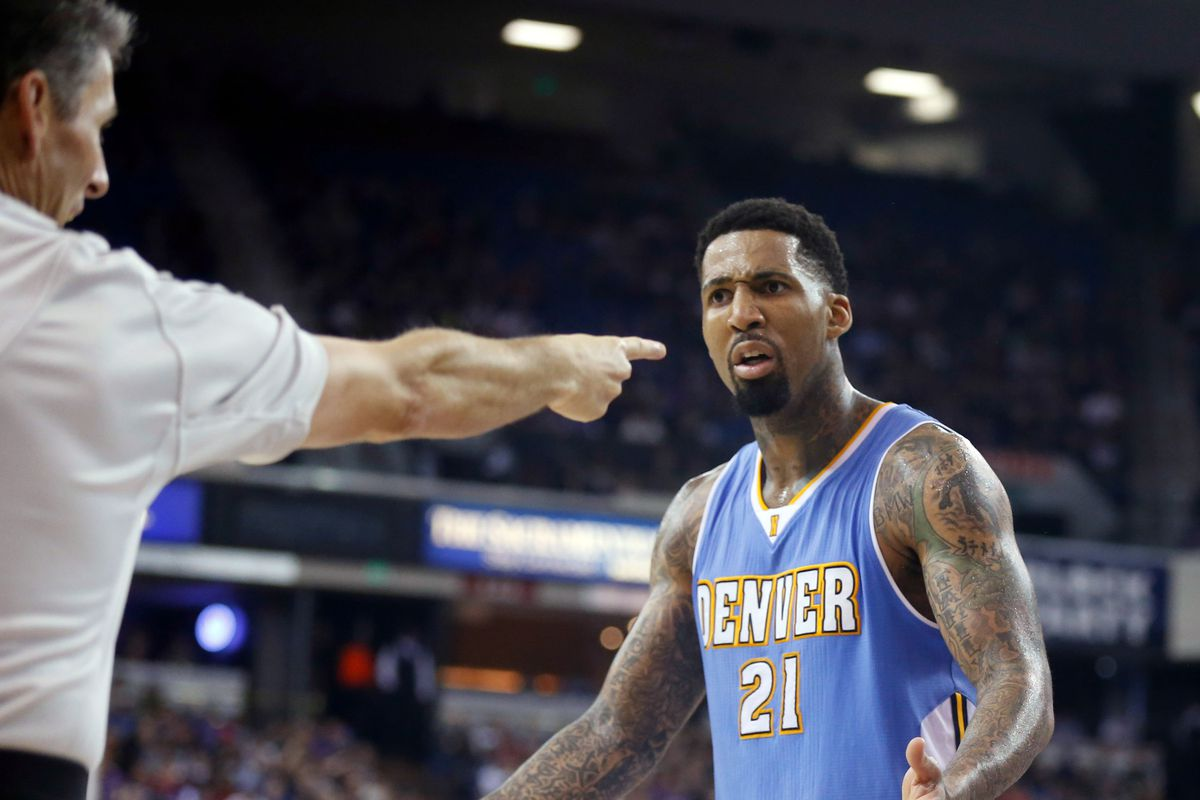 Wilson Chandler seems surprised by how many free throws the Kings took as well.