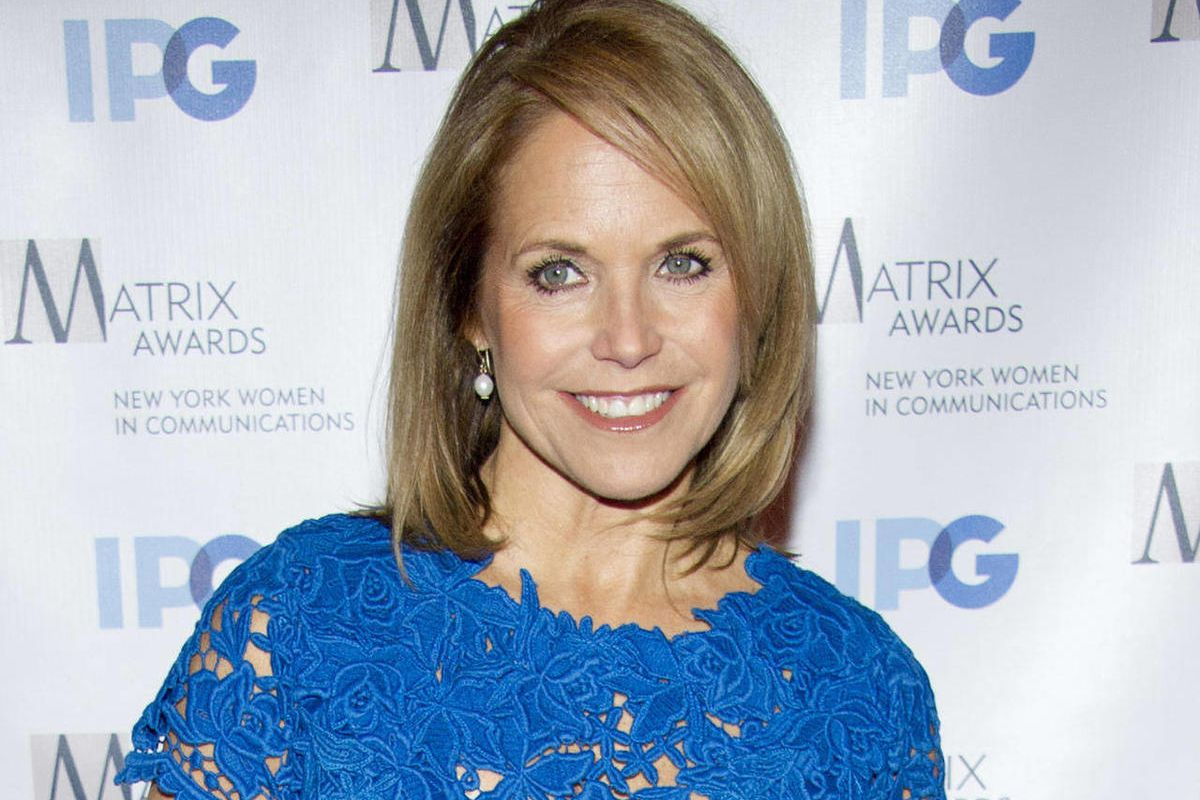 """FILE - In this April 23, 2012 file photo, Katie Couric arrives to the Matrix Awards in New York. Couric is launching a weekly Web series for Yahoo and ABC News in which she will discuss health, nutrition, parenting and wellness isues. The series, """"Katie's"""