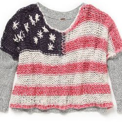 """<b>Free People</b> Flag Pullover, <a href=""""http://www.freepeople.com"""">$128</a>"""