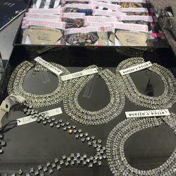 Necklaces ($39) and underwear ($10)