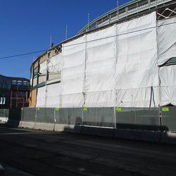 The Addison frontage remains under shroud