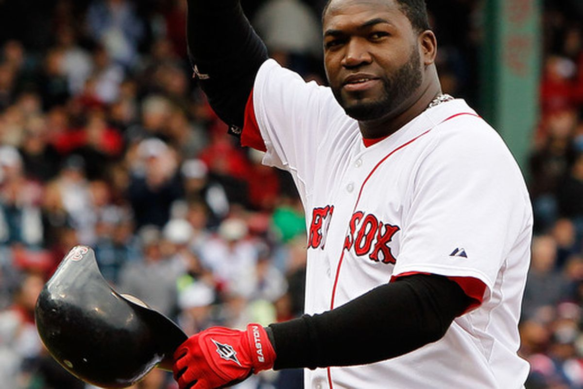 BOSTON - OCTOBER 3: David Ortiz #34 of the Boston Red Sox waves to fans after he was replaced by a pinch runner against the New York Yankees at Fenway Park October 3 2010 in Boston Massachusetts. (Photo by Jim Rogash/Getty Images)