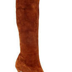 Medium-height, thin-heeled boot by Brian Atwood is a classic.