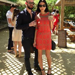 A too-chic duo at the Harper's Bazaar brunch.