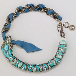 """<strong>Lanvin</strong> Turquoise Enamel Snake Choker Necklace, <a href=""""http://www.neimanmarcus.com/p/Lanvin-Enamel-Snake-Choker-Necklace-Turquoise-snake/prod150820008___/?icid=&searchType=MAIN&rte=%252Fsearch.jsp%253FN%253D4294914399%2526_requestid%253D"""