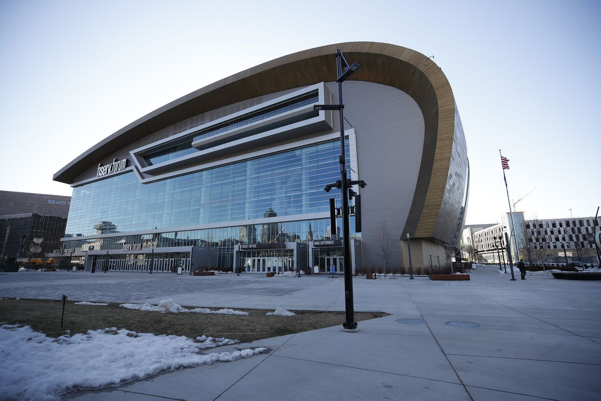 The Fiserv Forum, site of the 2020 Democratic National Convention in Milwaukee.