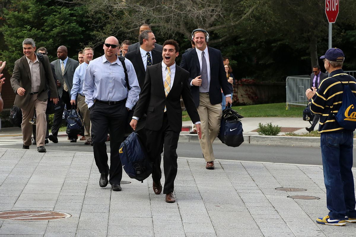 Cal coaching staff in happier times