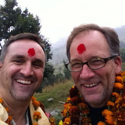 Meet the Mormons producer, Jeff Roberts, with writer and director, Blair Treu, in Nepal.