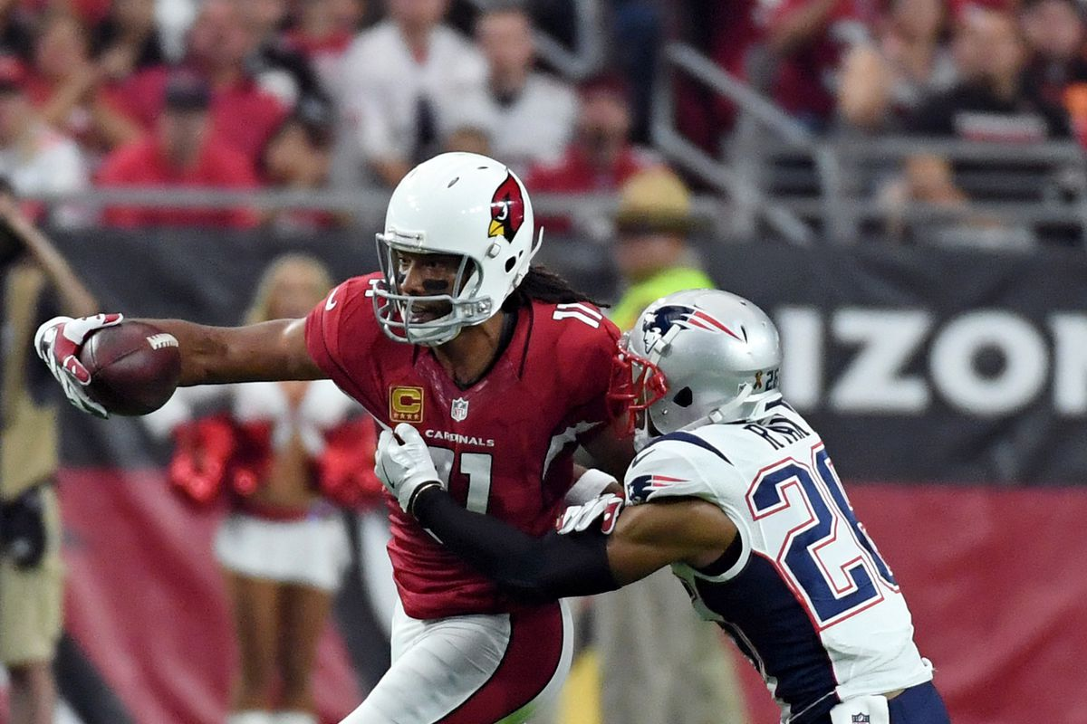 Larry Fitzgerald is NOT in Boston Pats Pulpit