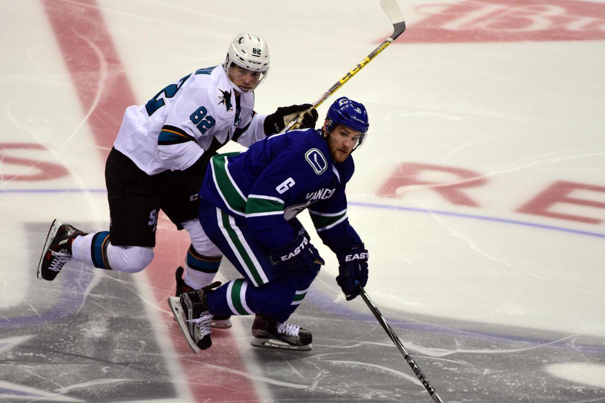 NHL: Preseason-San Jose Sharks at Vancouver Canucks