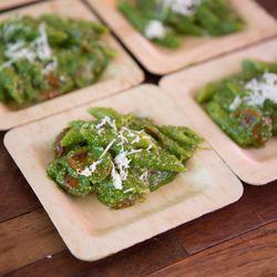 Guests loved Crateful's vibrant pesto pasta.