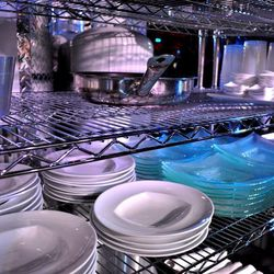 Dishes for the chefs to use.