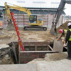 Excavation on Sheffield