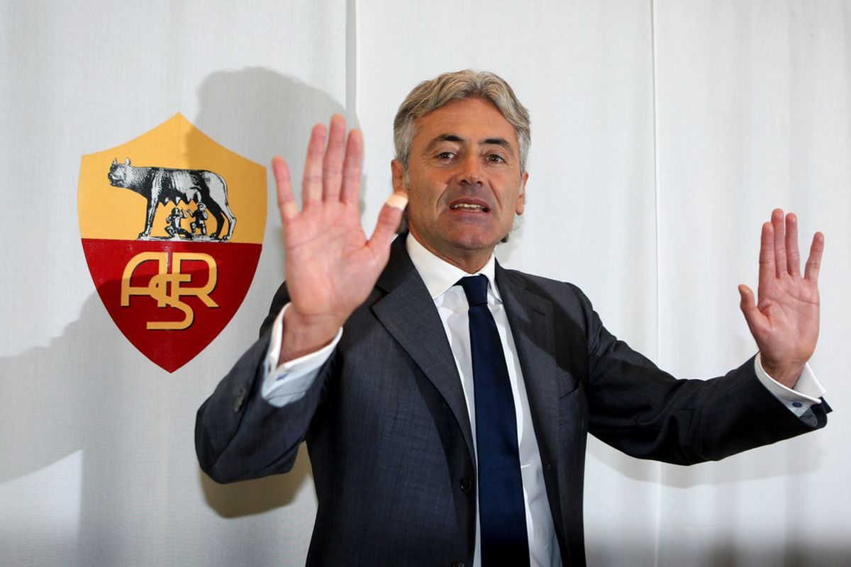 ROME, ITALY - OCTOBER 21:  New general manager of AS Roma, Franco Baldini attends a press conference at Centro Sportivo Fulvio Bernardini on October 21, 2011 in Rome, Italy.  (Photo by Paolo Bruno/Getty Images)