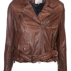 """3.1 Philip Lim leather moto jacket, $1,350 at Chestnut Street's <a href=""""https://www.knitwitonline.com/"""">Knit Wit</a>"""