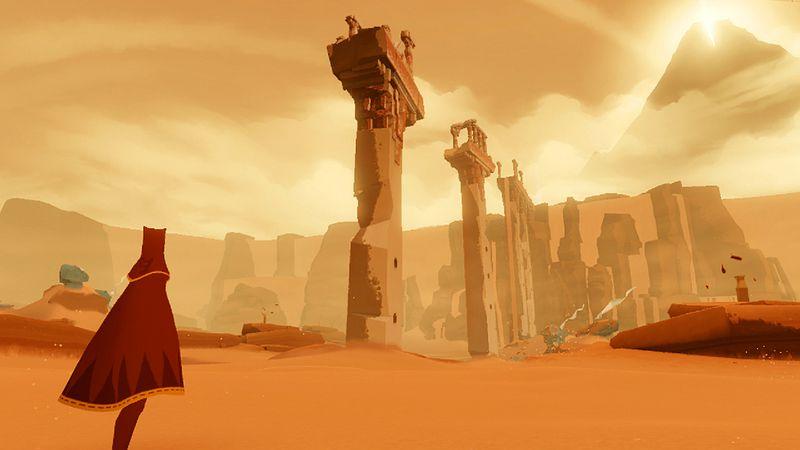 Journey - pillars in the desert