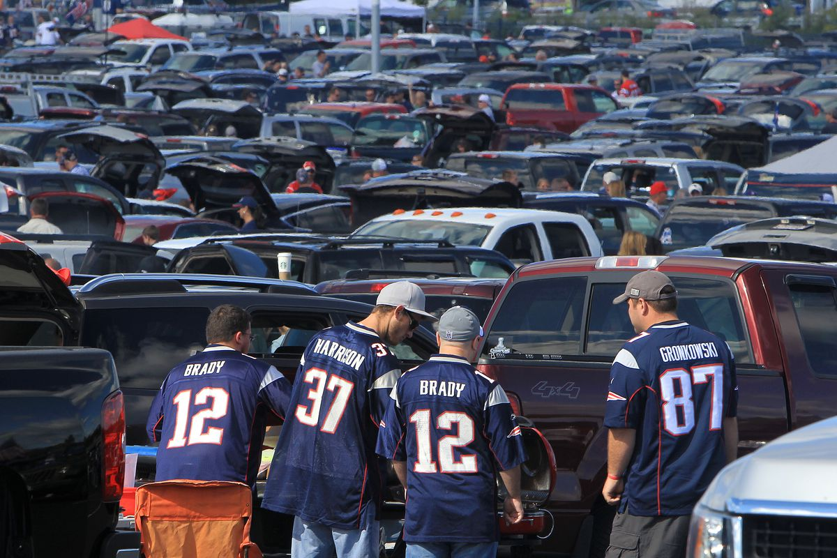 Fans Tailgate Before New England Patriots Hope Opener