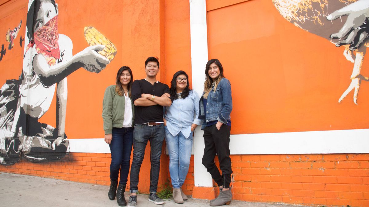 The Lopez siblings—Elizabeth, Fernando, Paulina, and Bricia—run Guelaguetza, the temple to Oaxacan food that their father founded in L.A.'s Koreatown. (Dean Cechvala)