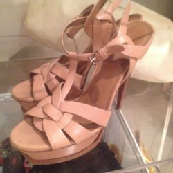 Yves Saint Laurent platform sandals, $250