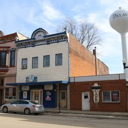 Shuttered businesses line the downtown business district in Delavan on February 22, 2019. | Brian Rich/Sun-Times