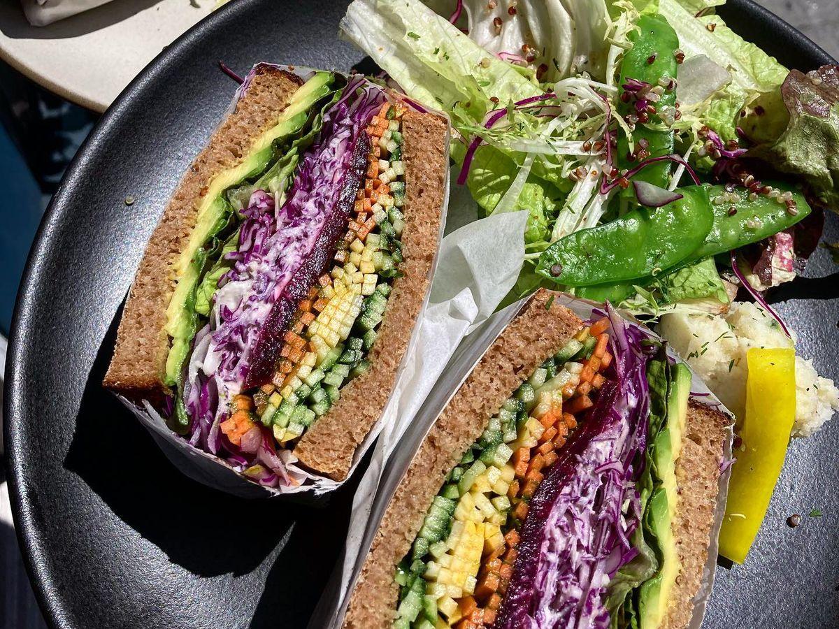 Veggie katsu sandwich from Family Cafe